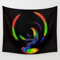 fantasy Wall Tapestries featuring  Fantasy  by Walter Zettl
