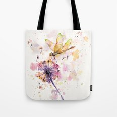 Dragonfly & Dandelion Dance Tote Bag