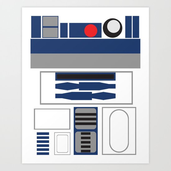 Star Wars - R2D2  Art Print