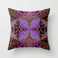 tiki Throw Pillows featuring Tiki  by Lyn Wiegand