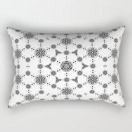 ancient sacred geomertry. seamless pattern. flower of life Rectangular Pillow