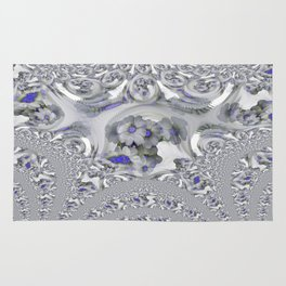 White Lacy Rug