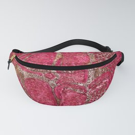 Pink Brown Whimsy Fanny Pack