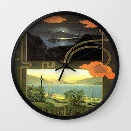 Vintage poster - Lago di Como Wall Clock