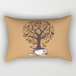 Coffee Tree Rectangular Pillow