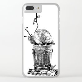 The World Has Been Trashed Clear iPhone Case