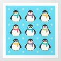Cute Kawaii Cool Penguins by cutemagic