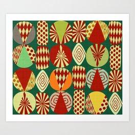 Christmas tree Minimalist green Art Print
