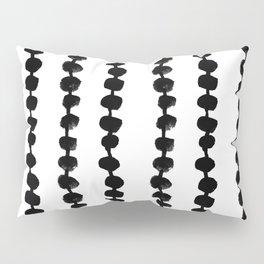 Linocut black and white dots pattern minimalist home decor nursery trendy dotted pattern Pillow Sham