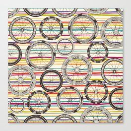 bike wheels stripe Canvas Print