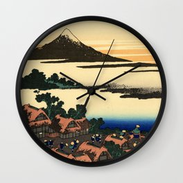 "Hokusai (1760–1849) ""Dawn at Isawa in Kai Province"" Wall Clock"