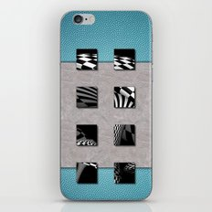 SQUARE AMBIENCE - Basketball mixed-media collage iPhone & iPod Skin