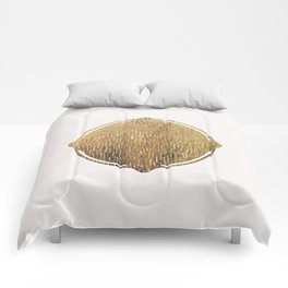 Gold Squircle Comforters