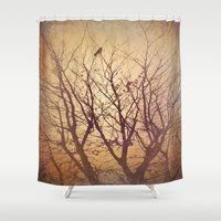 watch Shower Curtains featuring Night Watch by ALLY COXON
