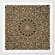 Delicate Golds Art Print