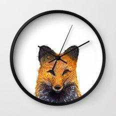 Merry Foxmas! Wall Clock