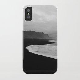 Black Sand Beach of Vik Iceland iPhone Case