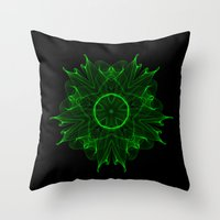 wicked Throw Pillows featuring Wicked by Mr. Pattern Man