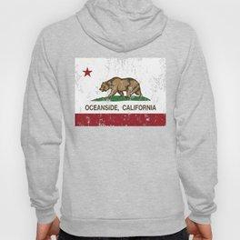 Oceanside California Republic Flag Distressed Hoody
