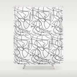 One Line Shower Curtain