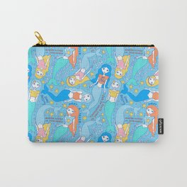 """""""What a catch"""" phrase - motivational mermaids Carry-All Pouch"""