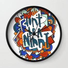 Don't be a ninny Wall Clock