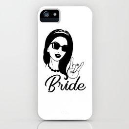 Metal Bride shirt hen Party Metal Bachelor party girl iPhone Case