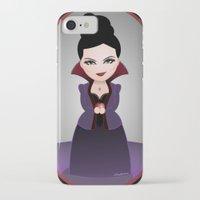 regina mills iPhone & iPod Cases featuring Kokeshi Regina by Pendientera