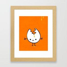 Mr Egg Framed Art Print