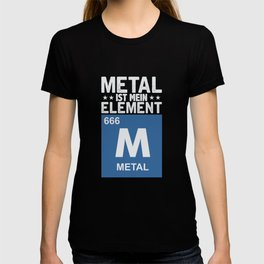 Metal Is My Element Periodic Table Symbol 666 T-shirt