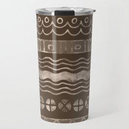 Bold Folk pattern pastel gold n.7 Travel Mug