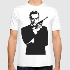 James Bond 007 White Mens Fitted Tee LARGE