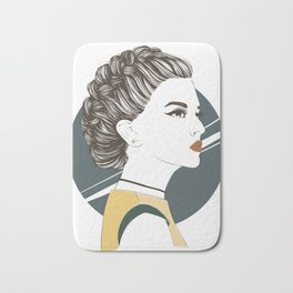 Zodiac: Illustration of Capricorn zodiac sign as a beautiful girl. Bath Mat