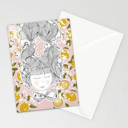 Lemon girl Stationery Cards