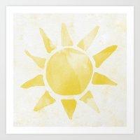 sunshine Art Prints featuring Sunshine by Leah Flores