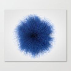 Blue Fuzz Canvas Print