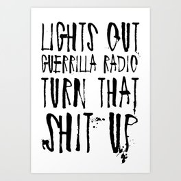 Lights Out, Guerrilla Radio Art Print