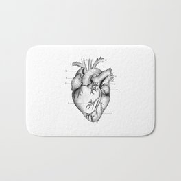Anatomical Heart Bath Mat