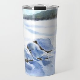 A Winter Study In Blues Travel Mug