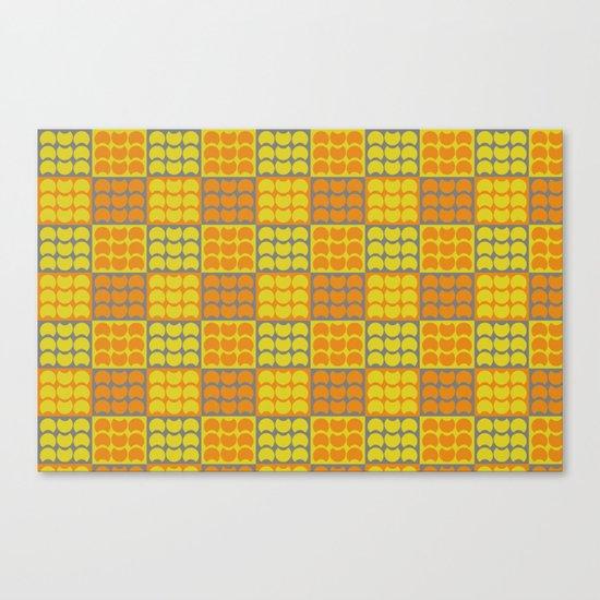 Hob Nob Orange Quarters Canvas Print