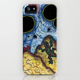 Lizarde Sees Oil Spots In The Sky. iPhone Case