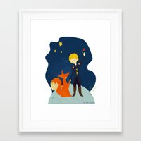 le petit prince Framed Art Prints featuring Le petit prince by LaFilleCoquette
