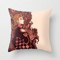 jjba Throw Pillows featuring golden wind by vvisti