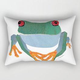 Tree Frog, Collage Rectangular Pillow