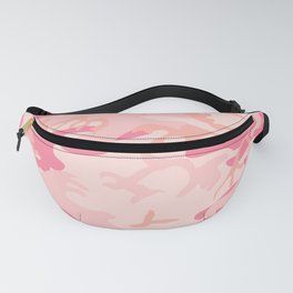 Camouflage print pink shades Fanny Pack