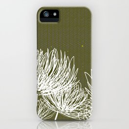 Olive Doodle Floral by Friztin iPhone Case