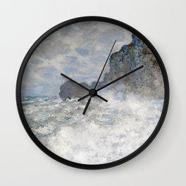 1883-Claude Monet-Rough weather at Étretat-65 x 81 Wall Clock