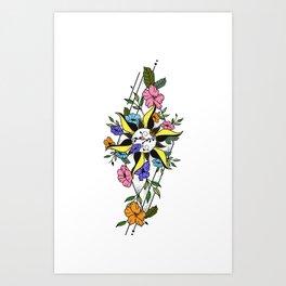 Floral Sun Art Print