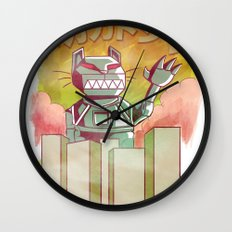 Mecha Catzilla Wall Clock