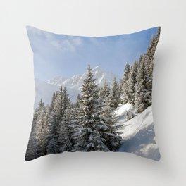Courchevel 3 Valleys Alps France Throw Pillow